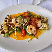 Cafe Marquesa Shrimp and Scallops