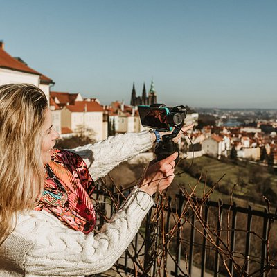 Prague City Adventures Guide showing around the city on a virtual tour