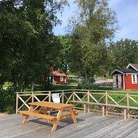 Sommarturistbyrån i Sunnaryd vid sjön Bolmen