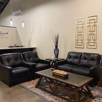Lounge area with media center - enjoy a virtual vineyard and winery tour.