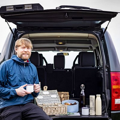 Handmade picnic with delicious local produce and home baking, enjoyed from the back of our Land Rover.