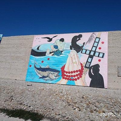 Murales sulla Diga di Foranea ....