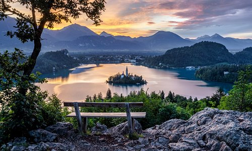A view from Ojstrica hill in summer.  Photo: Jošt Gantar, www.bled.si