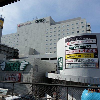 江坂駅側からみた外観です。