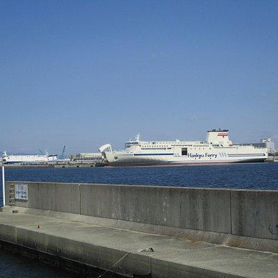助松埠頭に発着する阪九フェリー