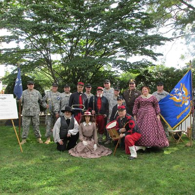 14th Brooklyn New York Infantry Reenactment Group of the American Civil War 1861-1865 Mark and April Sepanski is in front of the group Mark is also the President and Founder at THE PEOPLE'S MUSEUM and President and Founder at HAMMER PICTURES.