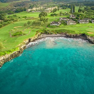 Aerial view of Holes #16 & #17on the Bay Course