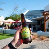 Enjoying a Hermanus Brewery Pale Ale!