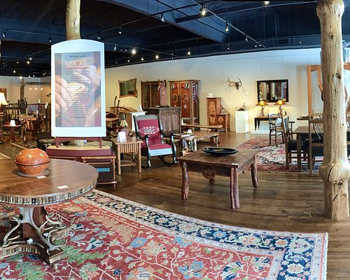 Beautifully displayed, unique furniture available for sale by artists.