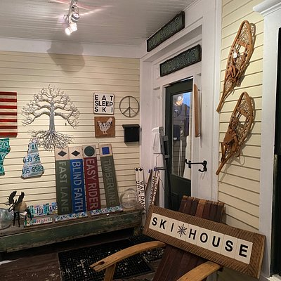 The welcoming front porch of the Depot Street Gallery an oasis of interesting things. There's something for everyone an incredible collection