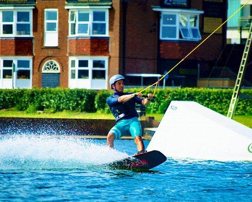 Wakeboarding on Hove Lagoon