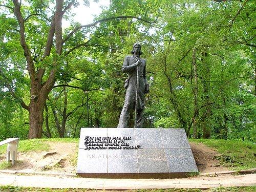 Monument to Kristjan Jaak Peterson Photo: R. Pindus