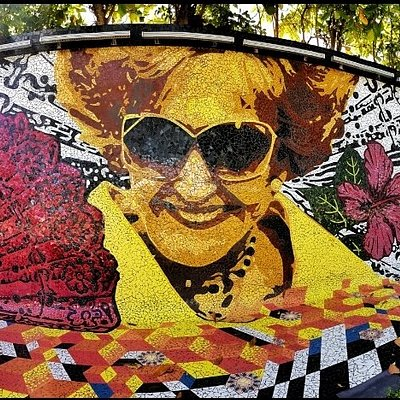Doña Fela mosaic, our first elected mayor to the San Juan city, is the largest in the Caribbean!