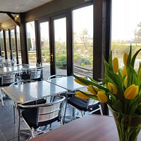 Located next to the River Wye. Indoor and outdoor seating.