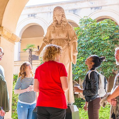 See nearly hidden, original statues from the 1915 exposition on the Balboa Park tour