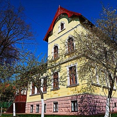 Вигляд на Львівський національний літературно-меморіальний музей Івана Франка у весняний період.