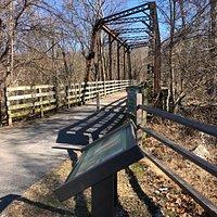 Pratt Railroad bridge, located immediately adjacent to the Guilford Road car park.