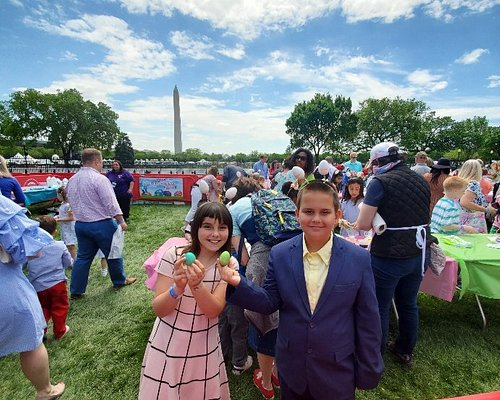 Bill Lewis of Vero Beach, Florida - along with Katherine, Rebecca and William - at the White House Easter Egg Roll in Washington DC.