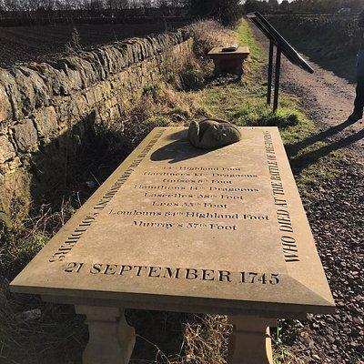The Battle of Prestonpans Memorial Tables