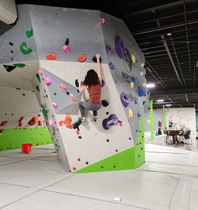 We have 10,00sq ft and 6,500 of boulder wall space.