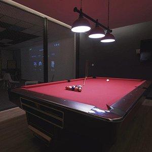 Billiard table at The Base