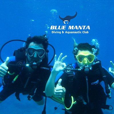 Happy Scuba Divers in Skala Kefalonia