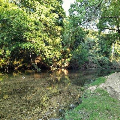 rio Nabão na Mendacha (durante o verão)