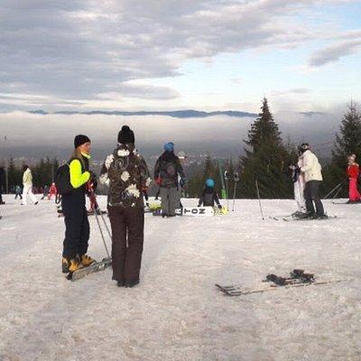 Ski slope for beginners