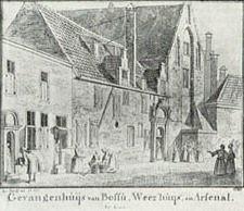 Gravure, wsl 17e eeuw, met vorige voorgevels