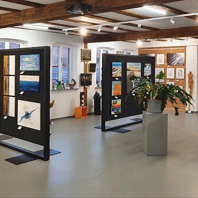 Die untere Etage der Ausstellung des Jahres 2021.