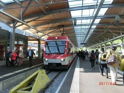 ツェルマット駅のゴッタルト鉄道