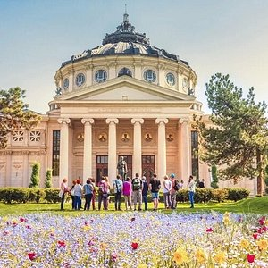 Romanian Athenaeum building - BTrip Bucharest free walking tour
