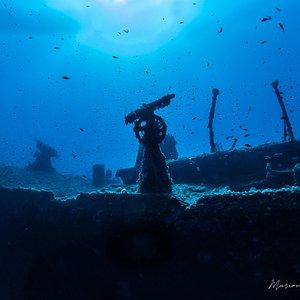 Wreck diving, KT12, Cala Gonone, Sardinia