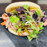 Panet bao amb carn i verdures