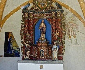 Chœur de l'ancienne église à Vercorin (Valais)