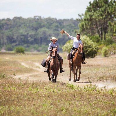 Lares horseback riding at Laguna Garzon