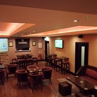 Flat screen televisions in the lounge.
