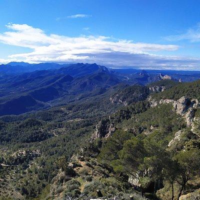 Sierra de Pàndols desde la cota 705.
