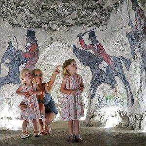 Visitors enjoying the Caves.  Copyright Frank Leppard