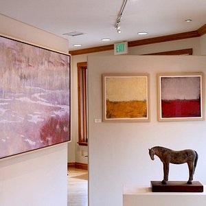 """Contemporary Western art by Andy Taylor, Amy Laugesen and Sabrina Stiles, """"The Best art gallery in Aspen is in Basalt"""""""