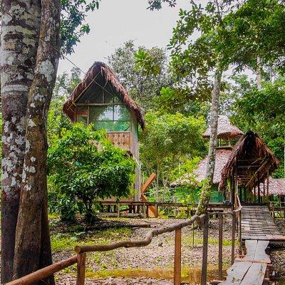 Entrance to the Tapiche Lodge