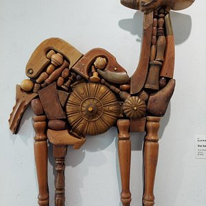 """""""Scott Rolfe is an assemblage artist whose narrative relief sculptures and shadow boxes are composed primarily of reclaimed vintage household furnishings. """""""