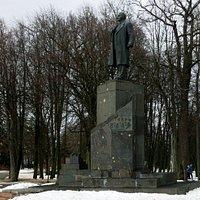 Памятник В. И. Ленину в Великом Новгороде. 27.02.2021