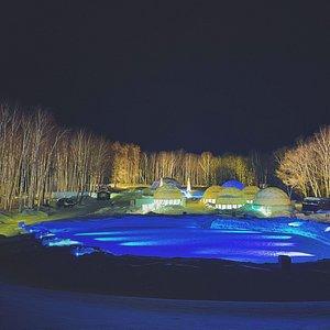 星野リゾート、トマムのアイスビレッジの景色(2021年1月ごろ)