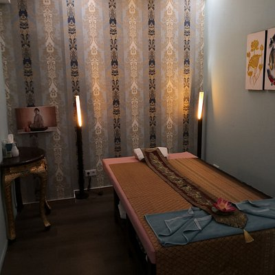 Einer der 2 Räume zum Entspannen in dem Thai Massage Salon