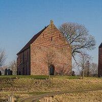 Church located on a 'wierd'.