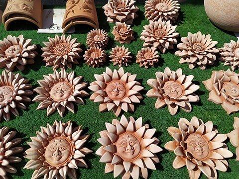 Superbe décoration en terre cuite , fabriquée en ITALIE ...