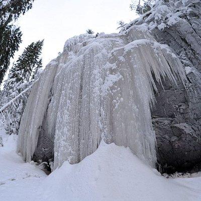Hitonhaudan alue talvella