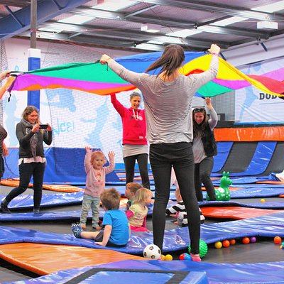 Toddler Time! Your tots can enjoy the place to themselves without the older children around. Not just fun but builds confidence, balance, social skills and more.