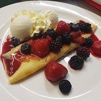 Berries and cream crepe